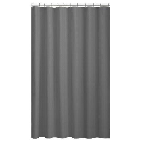 Mainstays Textured Microfiber Fabric Shower Curtain Liner | Walmart ...