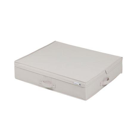 Bo te de rangement en toile sous le lit storit de meubles - Boite de rangement sous lit ...