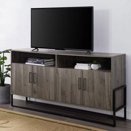 Manor Park Support de télévision style campagnard moderne de 147,32 cm (58 po) - Plusieurs couleurs possible - image 1 de 4