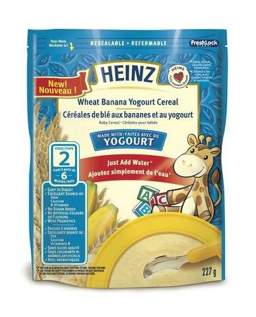 Heinz Banana Yogourt Wheat Baby Cereal Walmart Canada