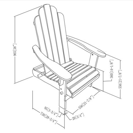 Manor Park Acacia Wood Adirondack Outdoor Patio Chair - Multiple Finishes - image 9 of 9