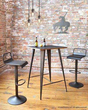 Tabouret de bar contemporain emery par lumisource walmart canada for Tabouret bar contemporain