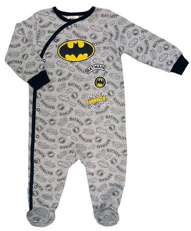 6a74917ed Batman Baby Boys  Long Sleeve Footed Sleeper