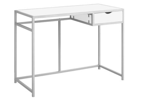 Monarch Specialties WhiteSilver Computer Desk Walmart Canada