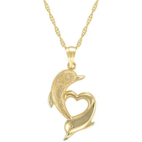 Quintessential 10kt pendant on chain walmart canada quintessential 10kt pendant on chain dolphin charm aloadofball Gallery