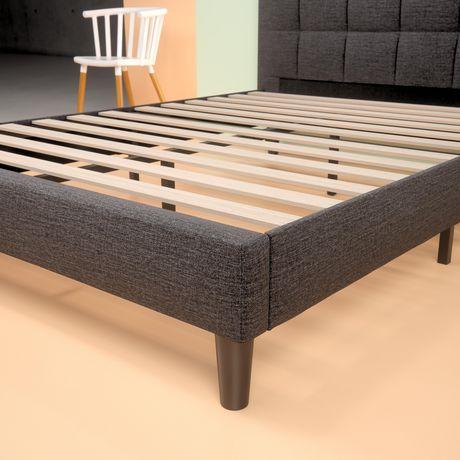 Zinus Square Stitched Upholstered Platform Bed Frame