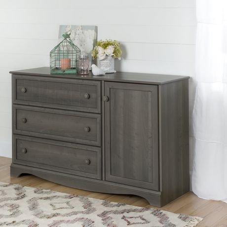 South Shore Savannah 3 Drawer Dresser With Door Walmart Canada