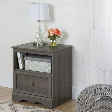Table de chevet 1 tiroir Savannah, de Meubles South Shore - image 1 de 7