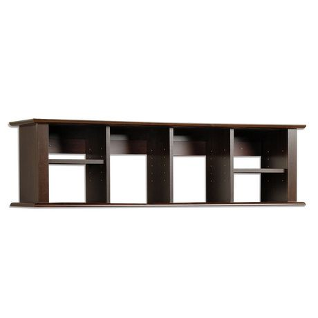 Prepac Espresso Wall Mounted Desk Hutch