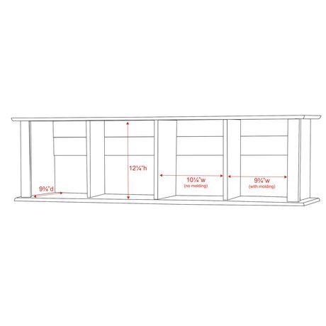 Prepac Espresso Wall Mounted Desk Hutch Walmart Canada