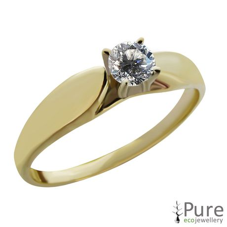 0.20 ct - Round Brilliant Diamond Solitaire Ring in 14kt White Gold - image 5 of 6