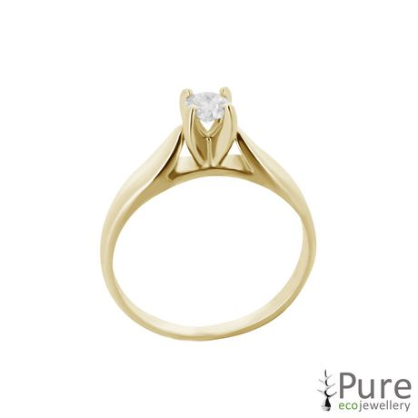 0.20 ct - Round Brilliant Diamond Solitaire Ring in 14kt White Gold - image 6 of 6