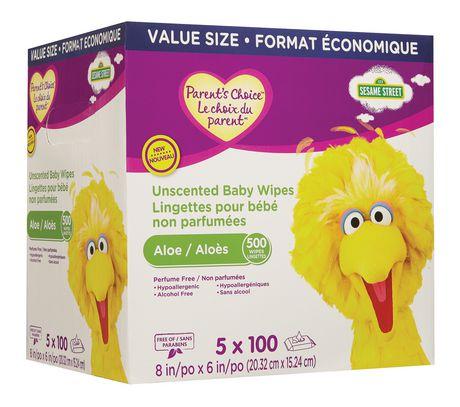 Lingettes pour bébé non parfumées Le choix du parent  - format économique - image 2 de 3