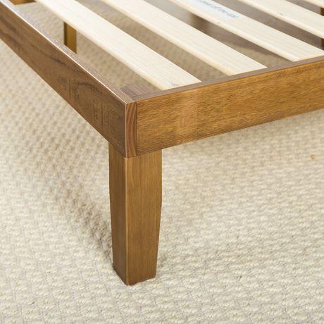 Zinus 12 Inch Deluxe Wood Platform Bed Wood Slat Support
