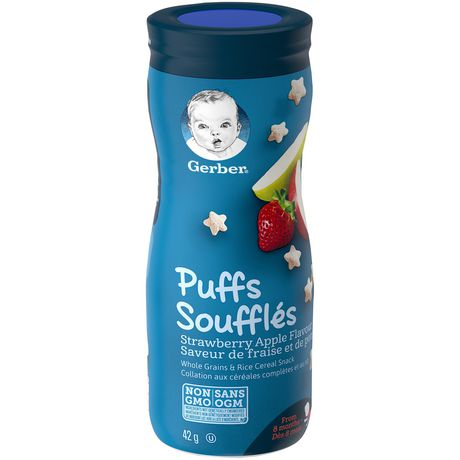GERBER PUFFS, Strawberry Apple, Baby Snacks - image 5 of 6