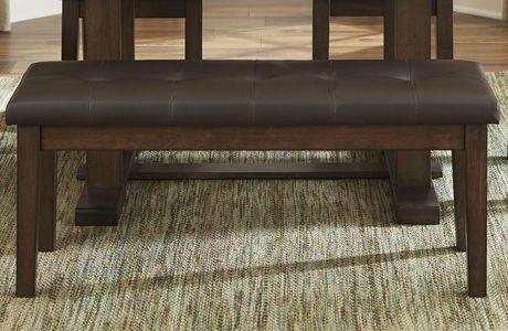 Topline Home Furnishings Dark Brown Dining Bench - image 1 of 2