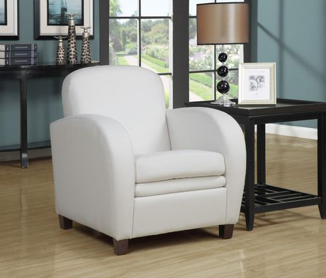 Monarch specialties white faux leather accent chair 1 chair 0 reviews