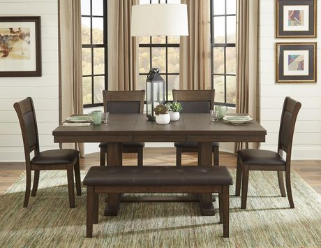 Topline Home Furnishings 7pc Dark Brown Dining SetIncludes: table and 6 chairs - image 1 of 2