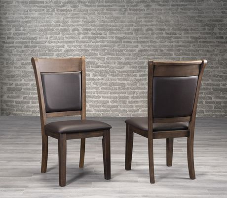 Topline Home Furnishings 7pc Dark Brown Dining SetIncludes: table and 6 chairs - image 2 of 2