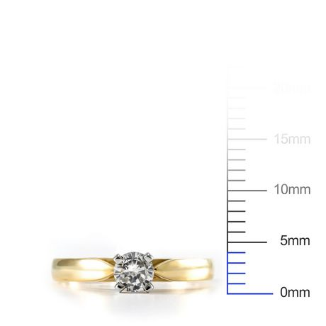 0.20 ct - Round Brilliant Diamond Solitaire Ring in 14kt White Gold - image 4 of 4