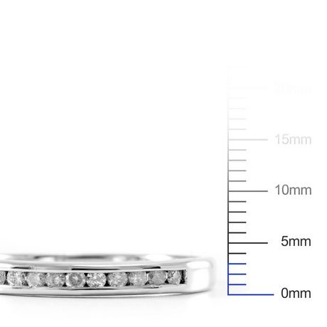 0.15 ct - Diamond Wedding Band in Sterling Silver - image 4 of 4