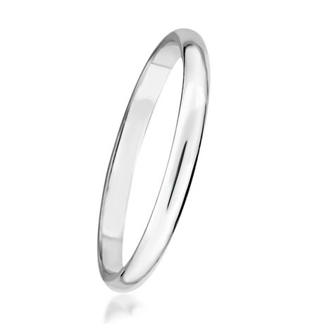 Pure EcoJewellery 2 mm Sterling Silver Wedding Band - image 2 of 3