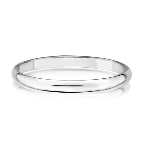 Pure EcoJewellery 2 mm Sterling Silver Wedding Band - image 1 of 3