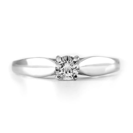 0.20 ct - Round Brilliant Diamond Solitaire Ring in Sterling Silver - image 3 of 4