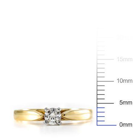 0.15 ct Round Brilliant Diamond Solitaire Ring - image 4 of 4
