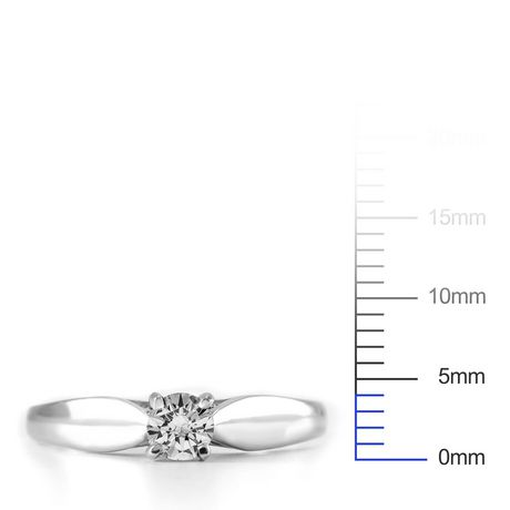 0.20 ct - Round Brilliant Diamond Solitaire Ring in Sterling Silver - image 4 of 4