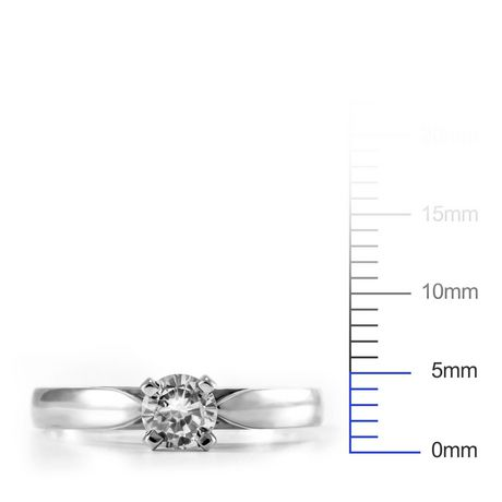 0.30 ct Round Brilliant Diamond Solitaire Ring in 14kt White Gold - image 4 of 4