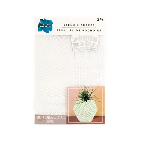 On the Surface Horizon Group USA 3-Pack Trendy Pattern Stencils - image 1 of 1