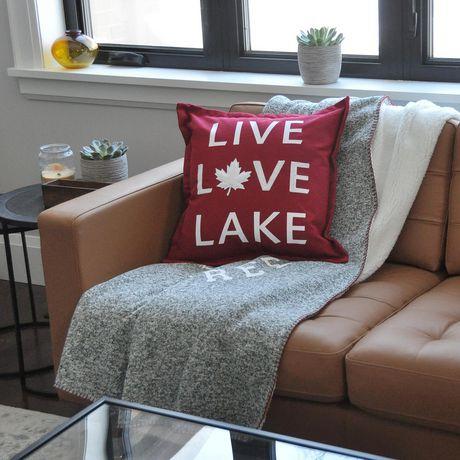Canadiana Coussin Décoratif- Vivre L'amour Lac - image 4 de 4
