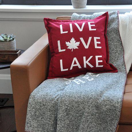 Canadiana Coussin Décoratif- Vivre L'amour Lac - image 3 de 4