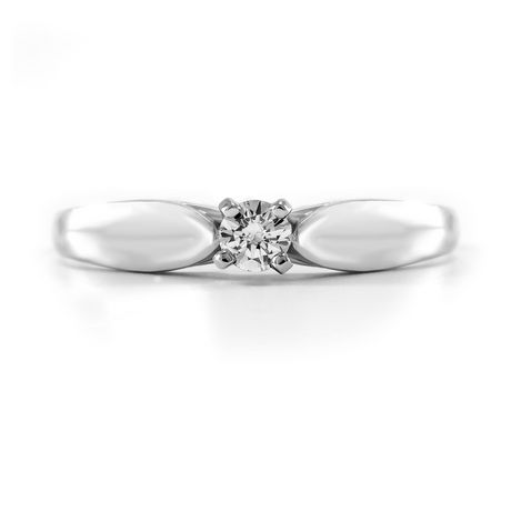 0.10 ct - Round Brilliant Diamond Solitaire Ring in Sterling Silver - image 3 of 4