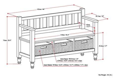 banc d 39 entr e deb bradwick walmart canada. Black Bedroom Furniture Sets. Home Design Ideas