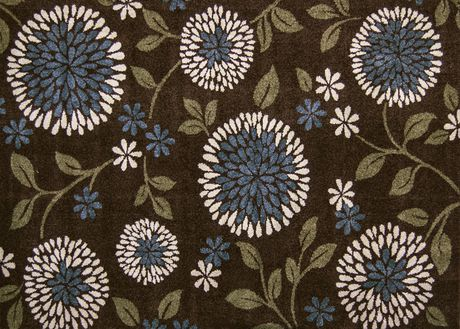 Home Trends 5x7 Ft Area Rug Brown Blue Floral Walmart Ca