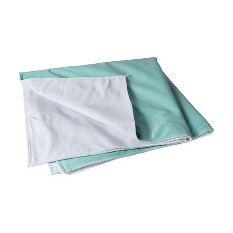 Protecteur réutilisable d'incontinence DMI en vinyle vert à 4 plis - image 1 de 3