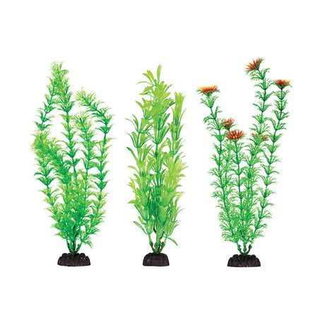 Penn-Plax Penn Plax Multi Pack Green Assorted Aquaplants - image 1 of 1