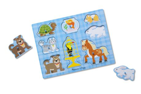 Melissa & Doug Wooden Pet Pals Animals Peg Puzzle - 8 pcs - image 1 of 3