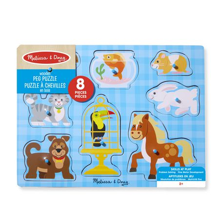 Melissa & Doug Wooden Pet Pals Animals Peg Puzzle - 8 pcs - image 3 of 3