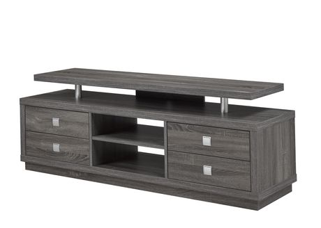 Brassex 66' TV Stand with Storage, Grey - image 1 of 1