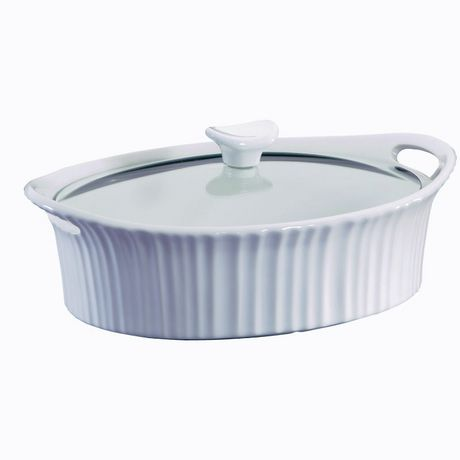 Corningware® French White® 2.5 qt/ 2,3 L Oval Casserole with Glass Lid | Walmart.ca
