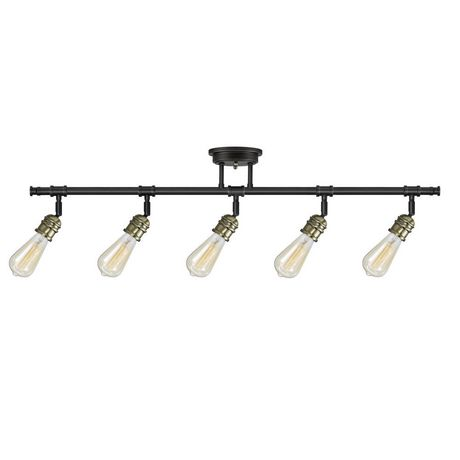 Rennes 5-Light Track Lighting Oil Rubbed Bronze Finish Antique Brass Sockets Bulbs Included | Walmart Canada  sc 1 st  Walmart Canada & Rennes 5-Light Track Lighting Oil Rubbed Bronze Finish Antique ...