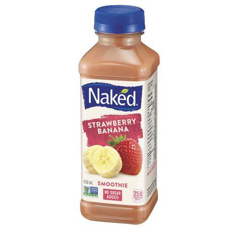 Naked Juice Fruit Smoothie, Strawberry Banana, 46 oz