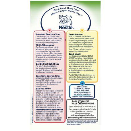 Céréales pour bébés au riz Biologique de Nestlé Gerber - image 2 de 4