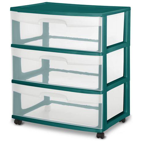 Sterilite Wide 3 Drawer Cart- Blue - image 1 of 1