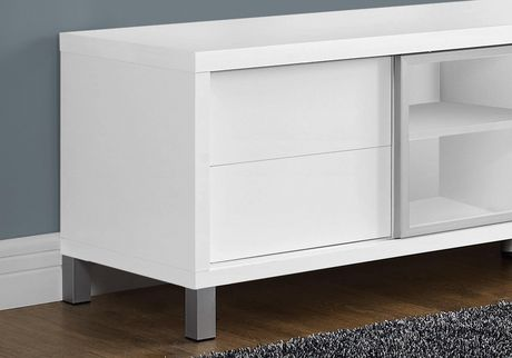 """Monarch Specialties TV Stand - White, 70""""L - image 2 of 3"""