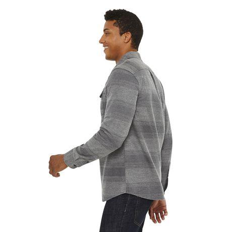 George Men's Herringbone Flannel Shirt - image 2 of 6
