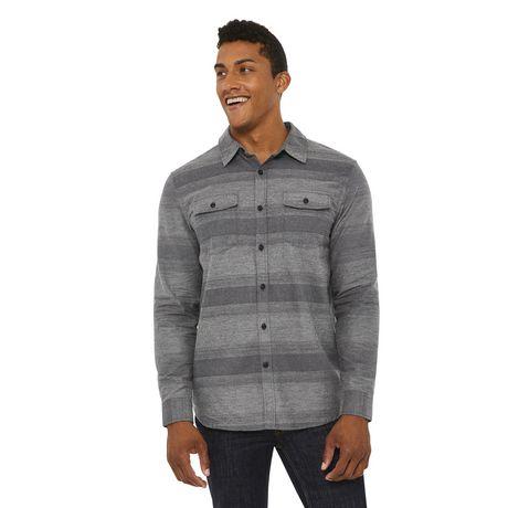 George Men's Herringbone Flannel Shirt - image 1 of 6